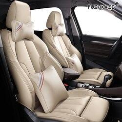FUZHKAQI zwyczaj skórzane pokrowce na siedzenia samochodowe dla Buick Regal LaCROSSE Excelle Park Avenue wyobrazić sobie GL8 żagiel Encore GL6 enklawa obejmuje