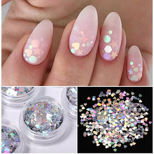 1g ongle paillettes irrégulière papillon guitare feuille parapluie motif mixte holographique bricolage ongle flocon Nail Art Design décorations(China)