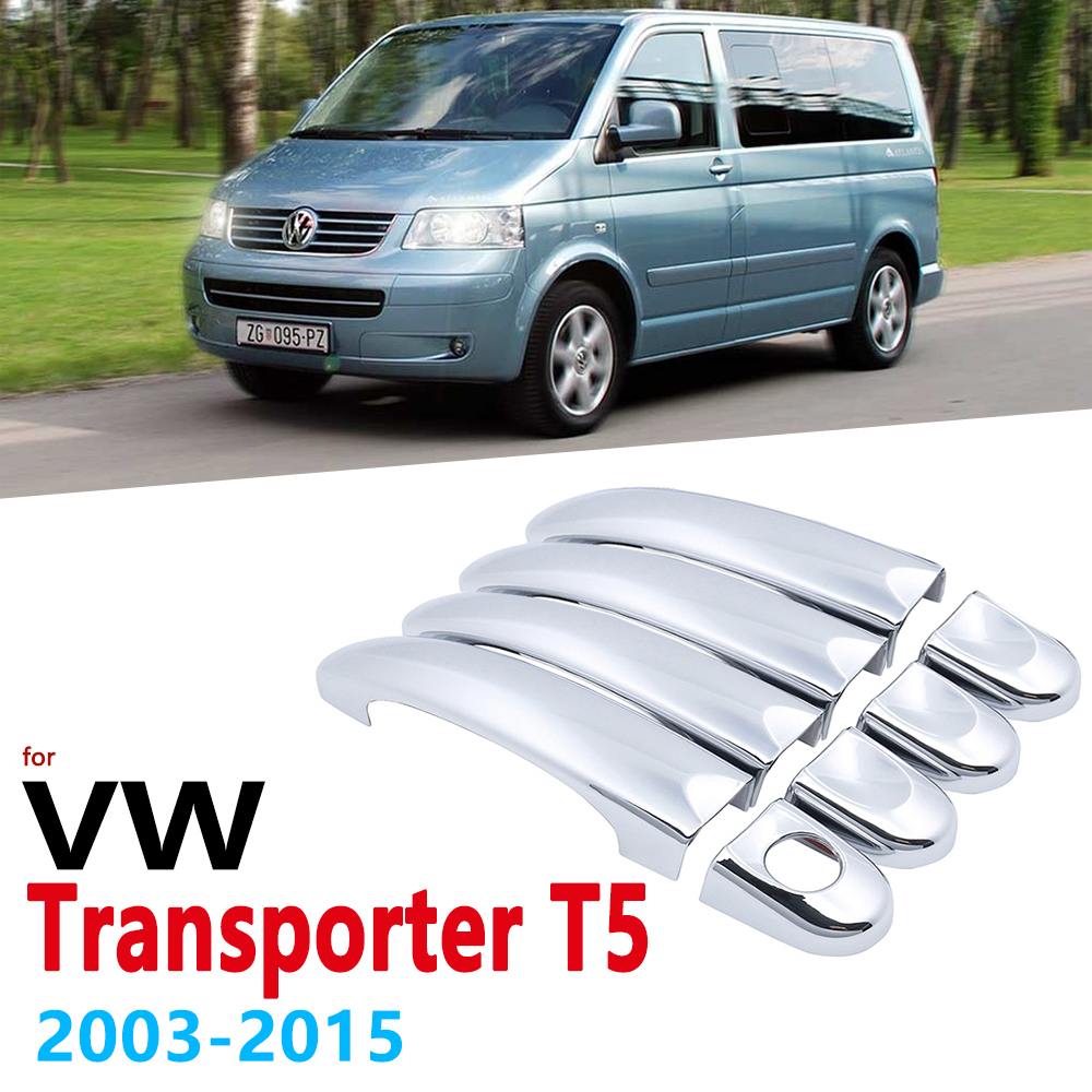 Chrome Handles Cover for Volkswagen VW Transporter T5 2003 2015 Multivan California Caravelle Car Accessories Stickers 2005 2010