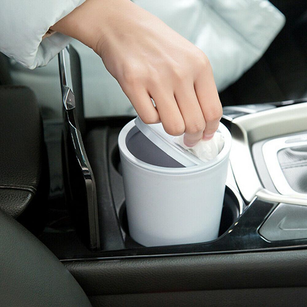Cubo de basura para coche, cubo de basura para hogar, contenedor para polvo, cesta para coche, accesorios para coche, accesorios para automóvil