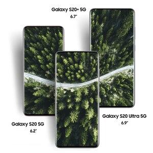 Samsung Galaxy S20 смартфон с 6,2-дюймовым дисплеем, процессором S20, S20 Ultra, S20, S20, 8/6,7/6,9 дюймов, 64/108 МП, 30x/100x, Android