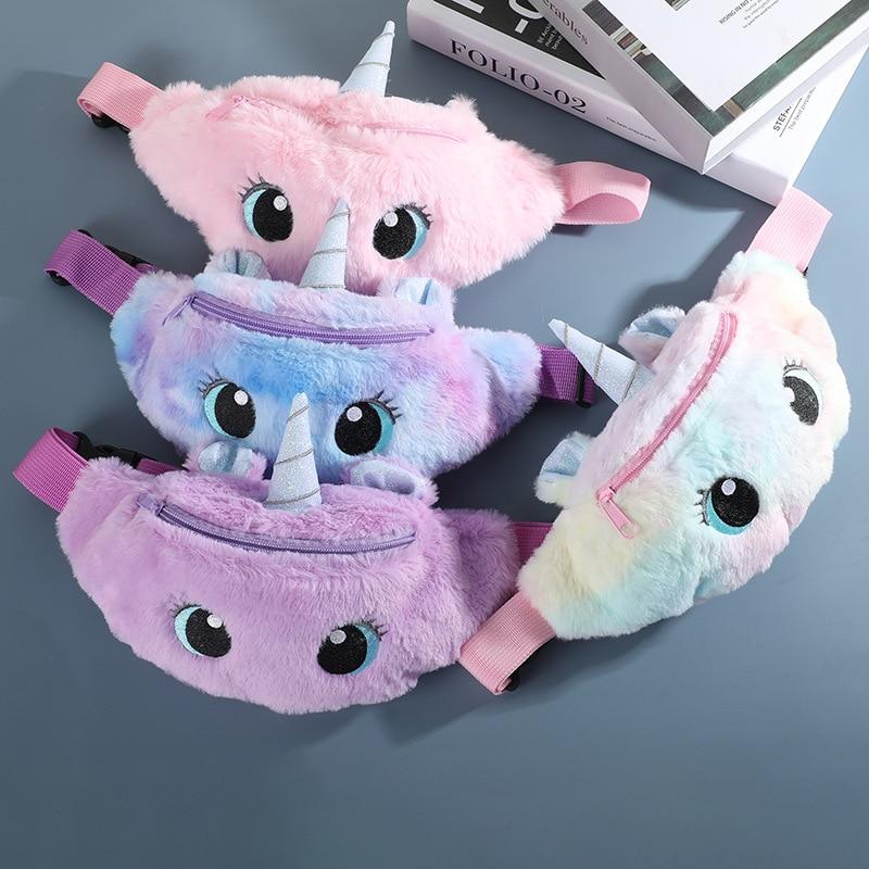 Waist-Bag Fanny-Pack Phone-Pouch Shoulder-Belt-Bags Unicorn Kids Cartoon Women/girl Pink