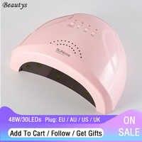 SUNone Professional UV LED Nail Lamp 48W LED Nail Dryer White Light UV Light Therapy Lamp Nail Machine Nail Tools