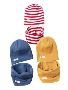 Cap Hats-Set Scarf Knit Autumn Two-Piece Baby Winter Cotton Children's Collar And Solid