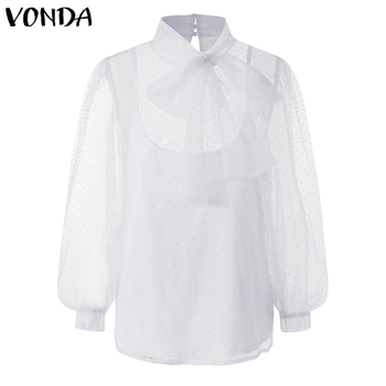 VONDA Women Fashion Blouses Casual Two-Pieces Sets Shirts Elegant Holiday Party Blusas Femme Loose Bohemian Tops S-5XL 3