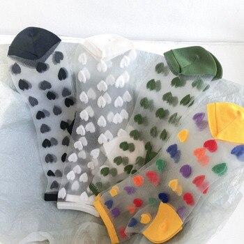 Nuevas calcetas de cristal de alta calidad para todos los días, todas las combinaciones de cristal, Color transparente, ligeras, medias de tubo de longitud media