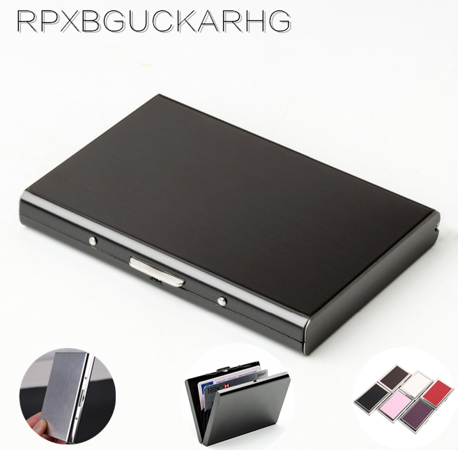 1 PC Aluminum Metal Credit Card Holder Slim Anti-Scan RFID Blocking Wallet Case Business Card Protection image
