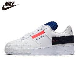 Кроссовки для бега NIKE AF1-TYPE AIR FORCE 1, цвет белый, черный, новое поступление