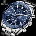 2018 neue Männer Uhr BENYAR Geschäfts Voller Stahl Quarz Top Marke Luxus Casual Wasserdichtes Sport Männlichen Armbanduhr Relogio Masculino
