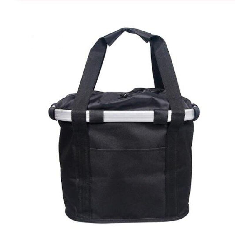 Велосипедная корзина, корзина для руля велосипеда, велосипедный держатель, сумка для езды на велосипеде, велосипедная Передняя багажная сумка, нагрузка 3,0 КГ - Цвет: Black