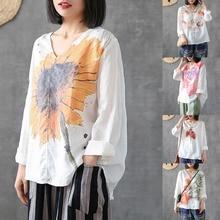ZANZEA Women's Blouse Shirt Casual Long