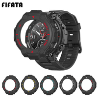 FIFATA PC Protector Cover Case For Xiaomi Amazfit T-Rex Smartwatch Protective Shell Frame For Huami Amazfit Trex Pro Edge Bumper