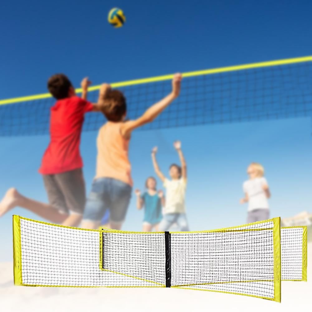 Four-sided Cross Volleyball Net Volleyball Net Four-sided PE Durable Cross Volley Ball Training Net Sports Badminton Game Net