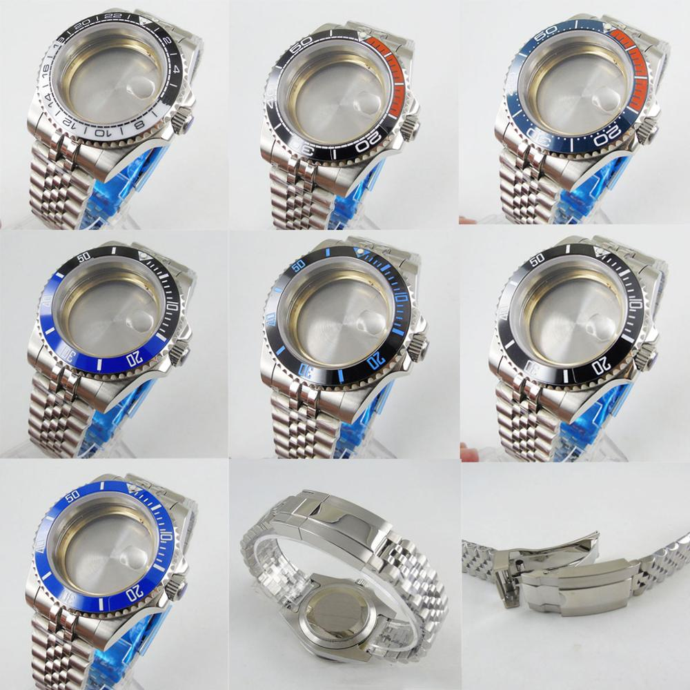 7 Models Stainless Steel Top Quality Watch Case With Sapphire Glass + Watch Bracelet Fit ETA2836 MIYOTA 8215 Automatic Movement