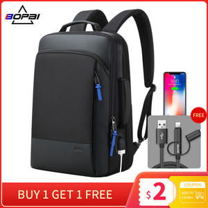 BOPAI Travel Backpack Computer Male Men Expandable Weekend Water-Repellent