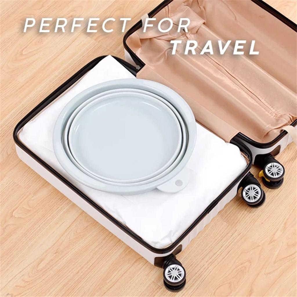 Versatile Collapsible Portable Foldable Washbasin Folding Bucket Travel Home A4