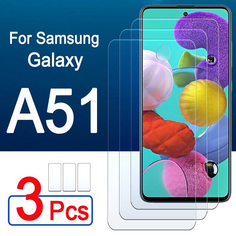 Galaxy a51 protetor de vidro para samsung um 51 51a protetor de tela armadura folha de vidro temperado samsung a51 galaxy a51 1-3 peças