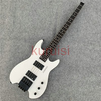 In stock, shipped within 24 hours. Classic white headless electric bass, special performance, birthday gift, fine crafting.