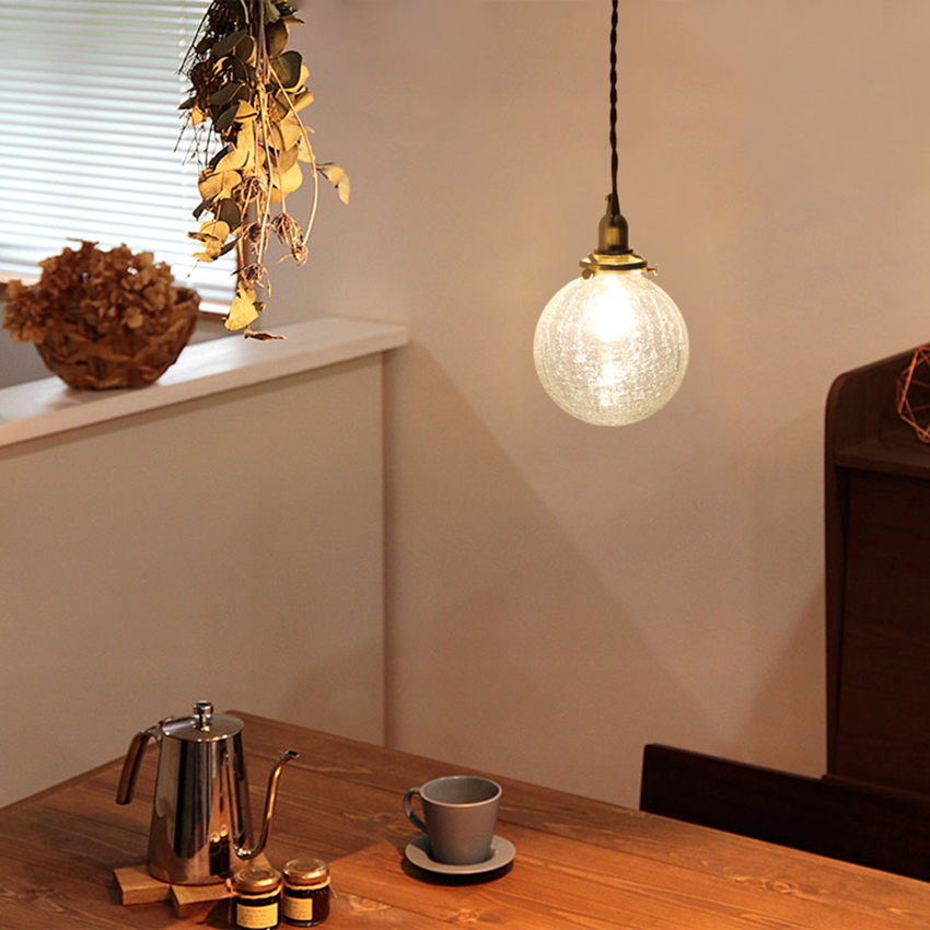 Modern Art Crack Glass Pendant Lights Lighting Nordic Loft Cafe Bar Porch Hanging Lamp Restaurant Bedroom Decor Light Fixtures