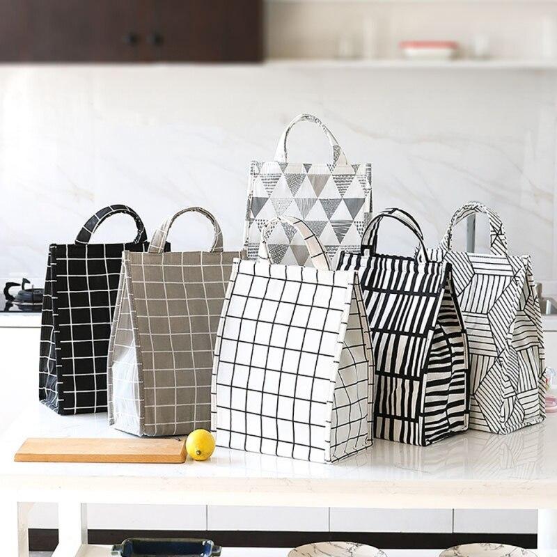 Shopping Bag Bento Bag Thickened Large Bag Aluminum Foil Insulation Bag Korean Waterproof Portable Insulation Bag Lunch Box