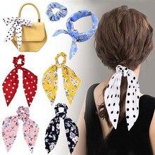 Повязка на голову с цветком и бантами для волос moda, держатель для хвоста, Женские аксессуары, винтажный vinchas para el cabello para damas turbantes turbante