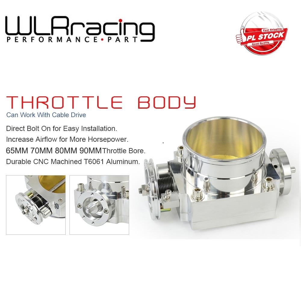 WLR - NEW 65 мм 70 мм 80 мм 90 мм дроссельная заслонки производительности всасывающий коллектор алюминиевая заготовка с высоким потоком
