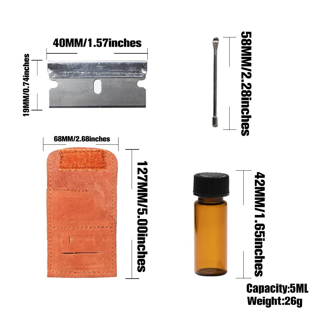 Snuff Snorter Kit Set Mini Glass Sniffer Snuff Bottle