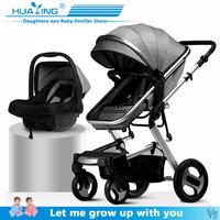 Multifunctional 3 in 1 2 in 1Baby Stroller High Landscape Stroller Folding Carriage Gold Baby Stroller Newborn Stroller
