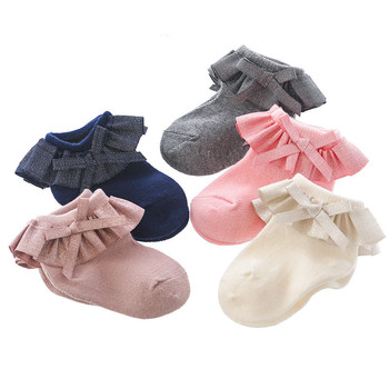 0-12M Newborn Baby Lace Socks Bow Princess Girls Spring and Autumn Cotton - discount item  49% OFF Baby Clothing