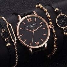 Bracelet Luxury Watch-Set Gift Quartz Girlfriend Women Ladies Relogio for 5pcs Femenino
