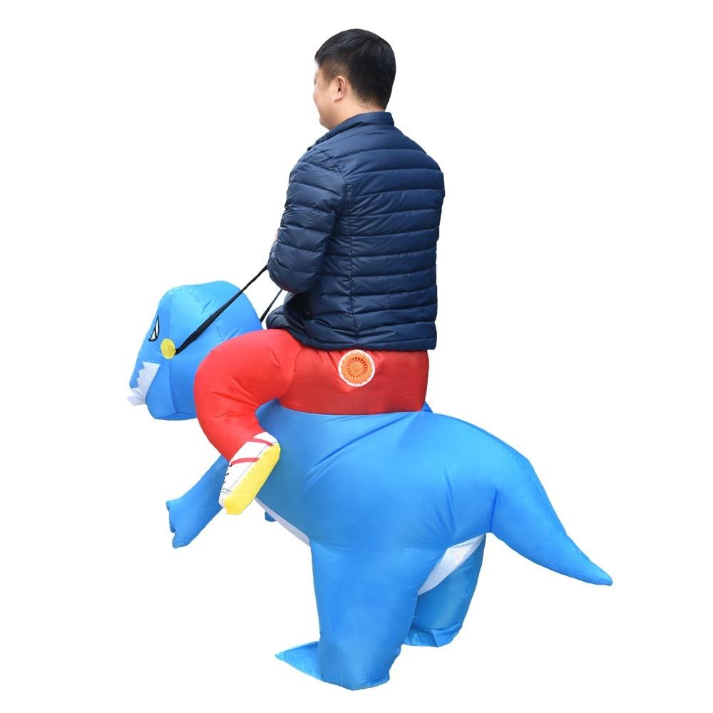 Купить с кэшбэком Kids Inflatable Dinosaur Costume T-Rex Trex Halloween Christmas Party Cosplay Blowup Suit Adult Kid Carnival Dress Mascot