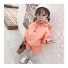 2019 Fashion Autumn Baby Girls Clothes Girls Tracksuit Set Children Kid Clothing Set 2pcs Jacket Coat+Striped Pants Baby Clothes цена в Москве и Питере