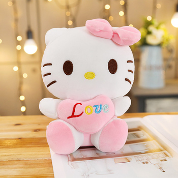 Peluche hello kitty amour rose