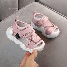 Sandały niemowlęce 2020 letnie nowe dziecięce buty dla małego dziecka chłopcy i dziewczęta siatkowe anty grające buty na plażę
