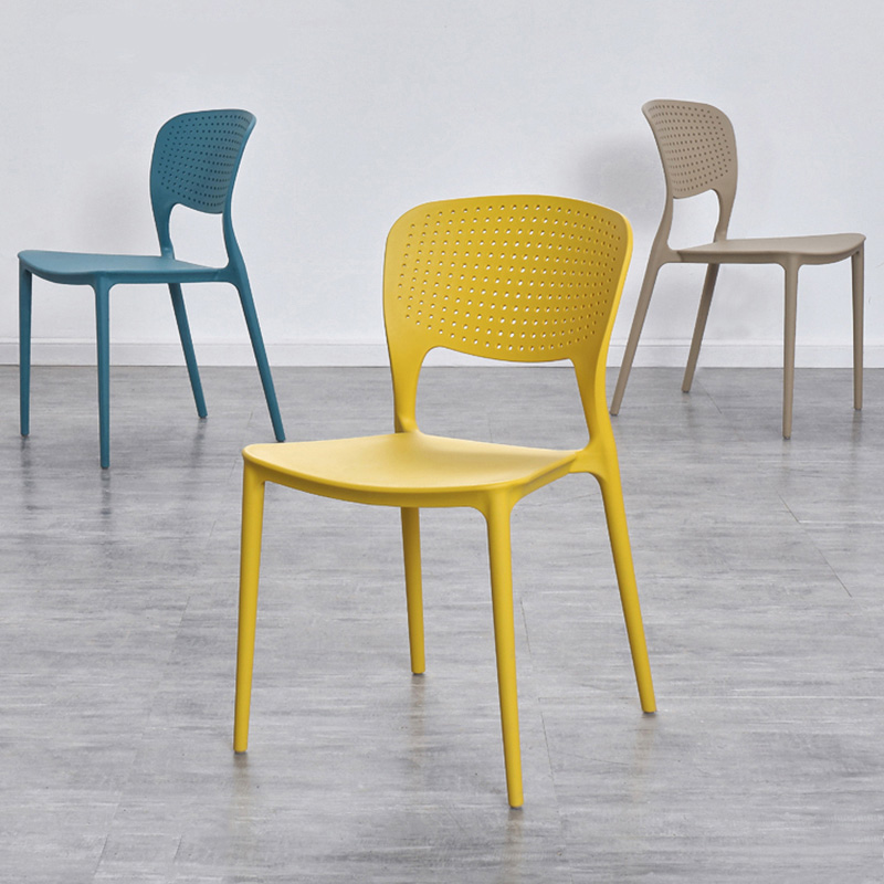 Modern Fashion Design Plastic Backrest Plastic Chair Dining Chairs for Dining Rooms Restaurant Furniture Conference Office Chair