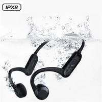 Knochen Leitung Drahtlose X18 Bluetooth Kopfhörer Gebaut In 8GB Speicher Karte Wasserdichte IPX8 Schwimmen Hände Frei Kopfhörer Headsets