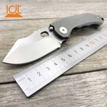 LDT TG04 Folding Knife S35VN Blade Titanium Handle Camping Pocket  Tactical Knives  Survival Hunting Flipper Knife EDC Tools