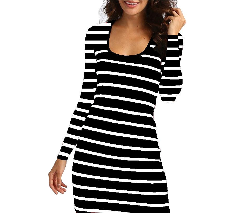 Hc97d704283094c628d1bb63f3cb709fbz Long Short sleeve autumn winter Casual Women Striped Bandage Bodycon Dress Sexy Slim Sleeveless Evening Party Mini Dress