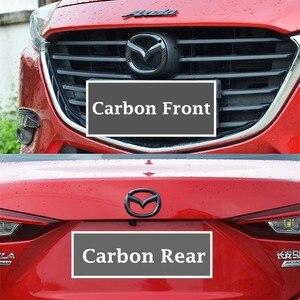 Image 3 - 1pc abs frente tronco adesivo para mazda axela atenza cx4 cx5 CX 5 traseira da cauda emblema substituição emblema novo exterior decoração automóvel