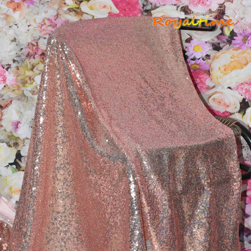 Pink Rose Gold Sequin Fabric 003