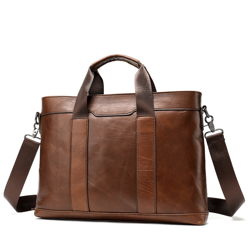 New 2019 Men's Bags Leather Retro Single Shoulder Bag Bag  Genuine Leather Briefcase Male Man Laptop Bag Natural Messenger Bags