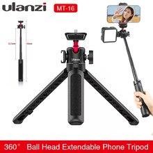 Ulanzi MT-16 przedłużyć Tablet statyw z zimną stopką do mikrofonu LED wideo światła Smartphone SLR Camera Vlog statyw do Sony Canon