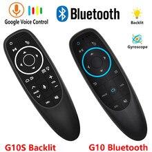 G10 g10s pro backlit voz rato de ar bt blueteeth 2.4g controle remoto sem fio seis-eixo giroscópio ar voando esquilo