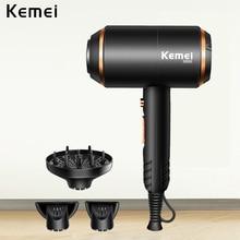 KEMEI Professional เครื่องเป่าผมลมที่มีประสิทธิภาพไฟฟ้าเป่าร้อน/เย็นเครื่องเป่าผมร้านตัดผมเครื่องมือน้ำไอออน 5