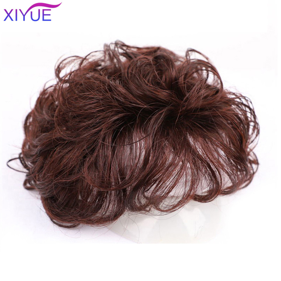 3D Bangs Replacement Piece Hair Covering White Hair Natural Black Color Curly Hair Wig Fashion Short Resistant Synthetic Wigs