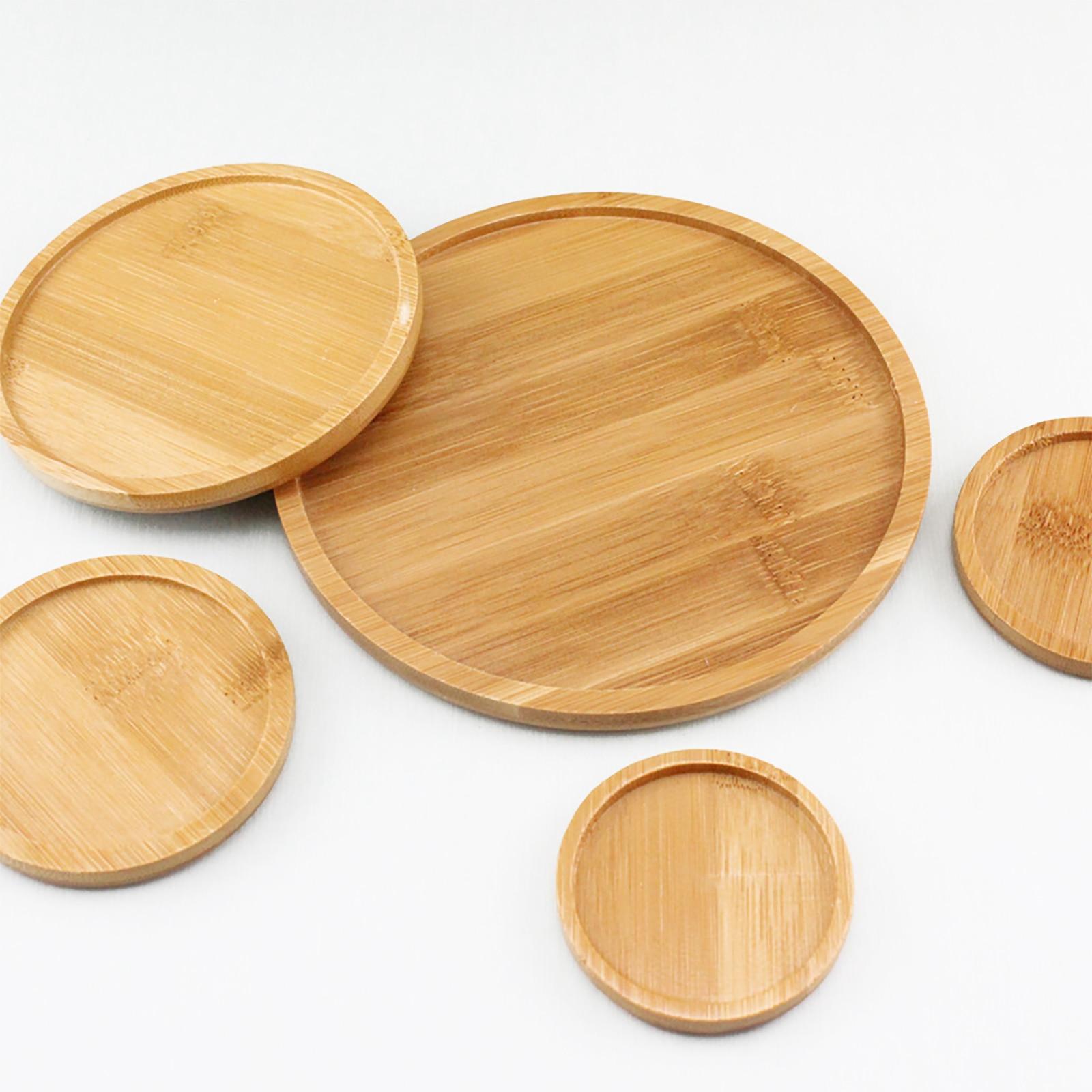 Растение горшок блюдце лоток бамбук лоток круглый квадрат цветок контейнер стол чай набор бамбук тарелка сад креатив растение подставка