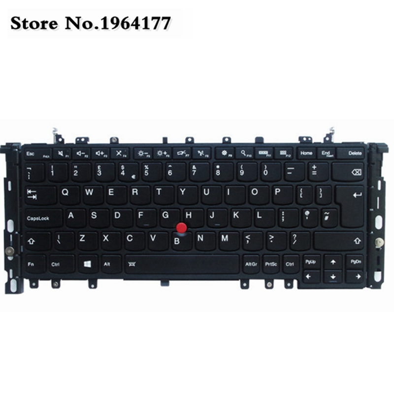 UK Laptop Keyboard FOR LENOVO ThinkPad Yoga S1 Yoga 12 S240 Keyboard Backlit Backlight 04Y2620