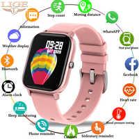 Nuevo reloj inteligente LIGE2020 para hombres y mujeres IPX7, rastreador de Fitness impermeable, pantalla táctil LED completa, Monitor de ritmo cardíaco, smartwatch deportivo