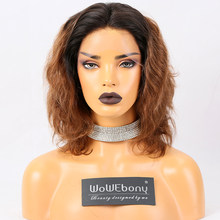 #1B/30 Ombre Lace Front Human Hair Wigs Body Wave Brazilian Remy Colored Human Hair Wigs 150% Density Pre Plucked For Women(China)