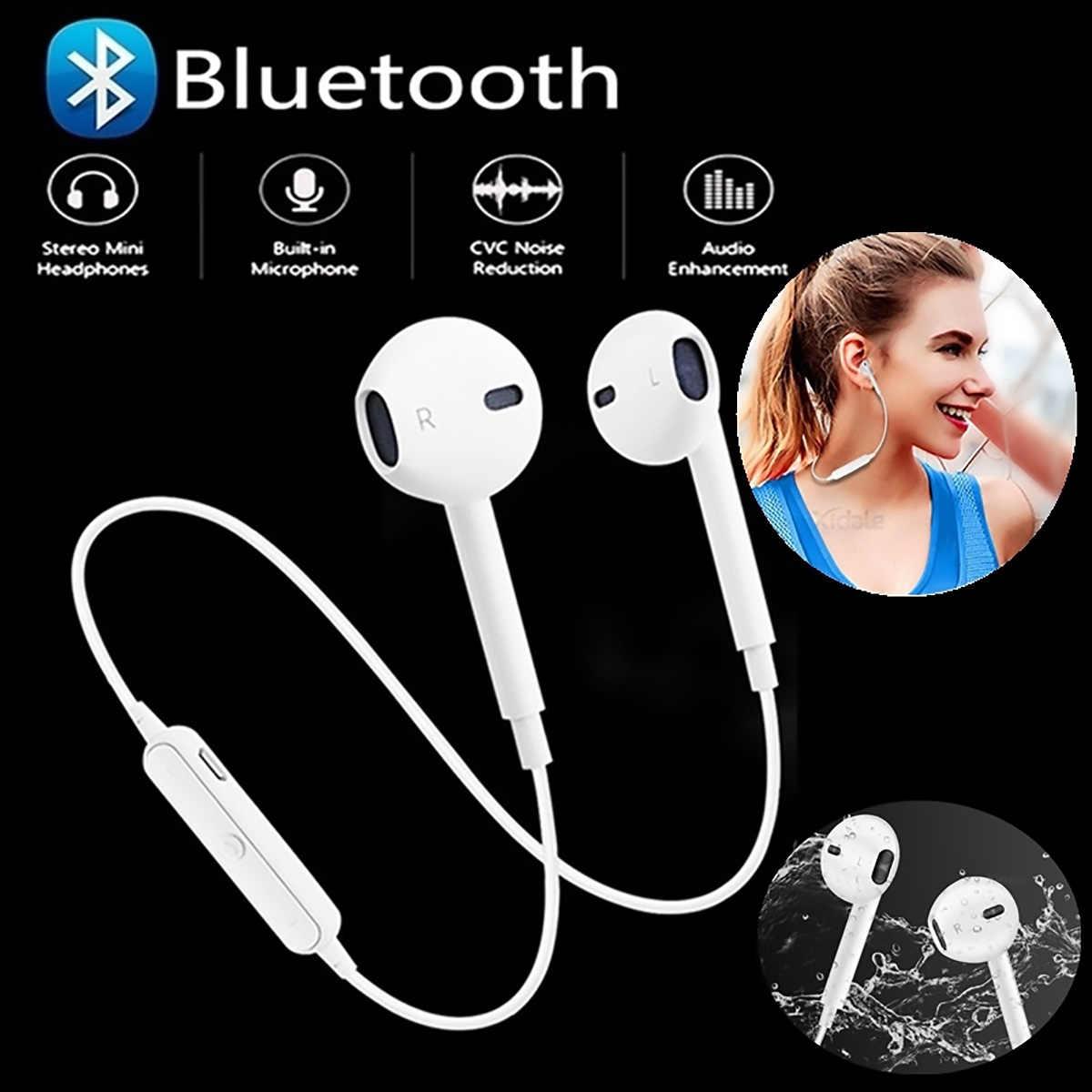 Draadloze Bluetooth Koptelefoon Noise Cancelling Headset Nekband Leven Sport Stereo In-Ear Met Microfoon Voor Iphone Xs Samsung 9